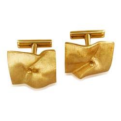 14kt Yellow Gold Cuff Links