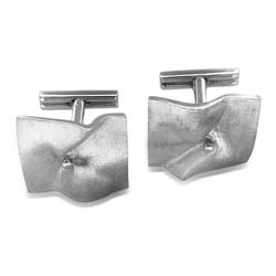 14kt White Gold Cuff Links