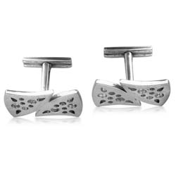 18kt White Gold Cuff Links
