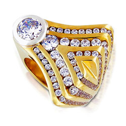 Modern Design with Glowing Traditional 14kt Yellow Gold & Brilliant Diamond